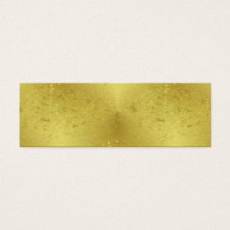 Faux Gold Foil Texture Background Sparkle Template Mini Business Card
