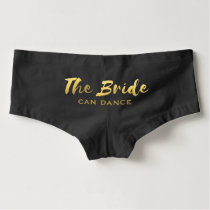 Faux Gold Foil The Bride Wedding Dance Underwear