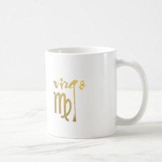 Faux Gold Foil Virgo Zodiac Symbol Coffee Mug