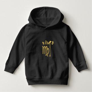 Faux Gold Foil Virgo Zodiac Symbol Shirt