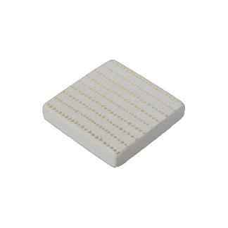 Faux Gold Foil White Arrows Pattern Stone Magnet