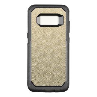 Faux Gold Foil White Circle Fan Pattern OtterBox Commuter Samsung Galaxy S8 Case