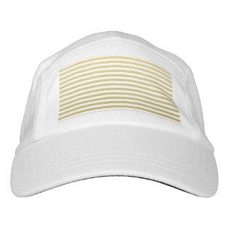 Faux Gold Foil White Stripes Pattern Headsweats Hat