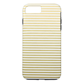 Faux Gold Foil White Stripes Pattern iPhone 8 Plus/7 Plus Case