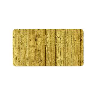Faux Gold Foil Wood Texture Background Template Label