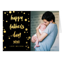Faux Gold Foil XOXO | Father's Day Card