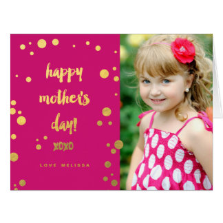 Faux Gold Foil XOXO   Mother's Day Card Big Greeting Card