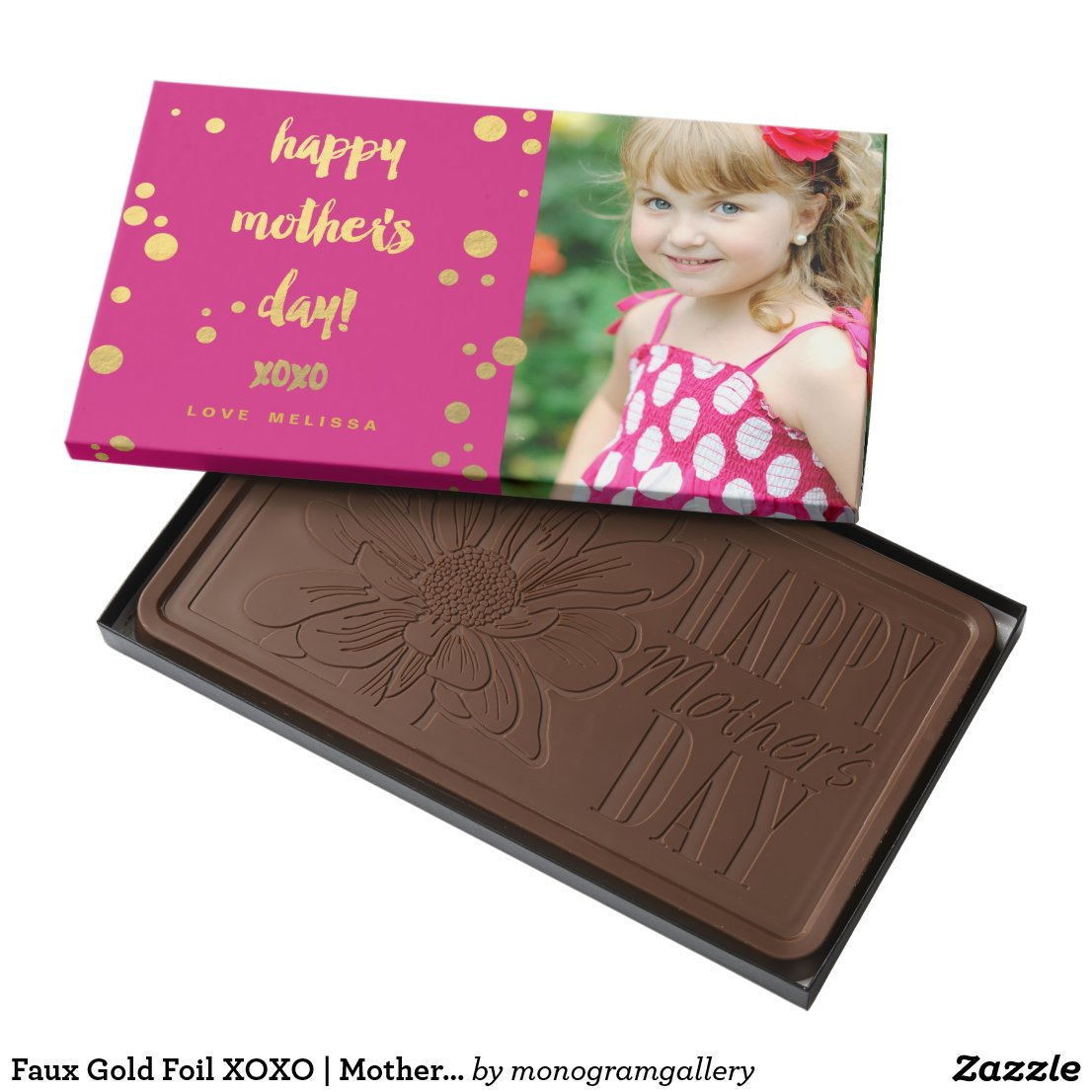Faux Gold Foil XOXO | Mother's Day Chocolate