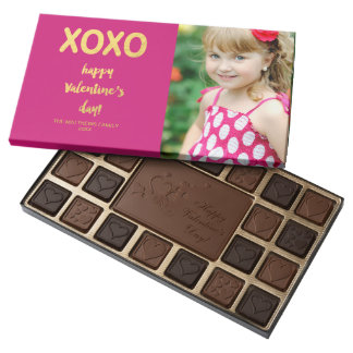 Personalized Valentine's Day Gifts for Your Loved Ones - Faux Gold Foil XOXO Chocolates