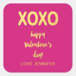 Faux Gold Foil XOXO | Valentine's Day Sticker