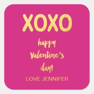 Faux Gold Foil XOXO   Valentine's Day Sticker