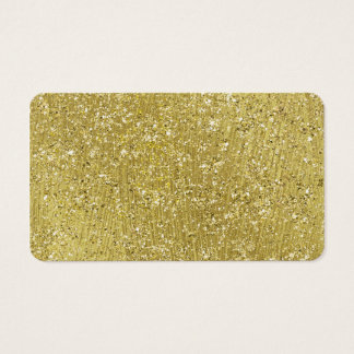 Faux Gold Glitter Background Pattern Sparkle Business Card