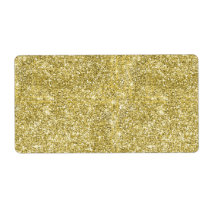 Faux Gold Glitter Background Pattern Sparkle Label