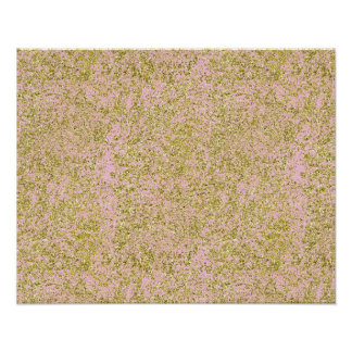 Faux Gold Glitter Background Pattern Sparkle Pink Poster