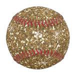Faux Gold Glitter Baseball