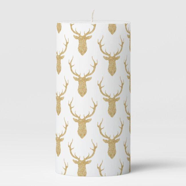 Faux Gold Glitter Christmas Deer