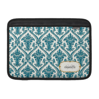 Faux Gold Glitter Damask Floral Pattern Customized Sleeve For MacBook Air