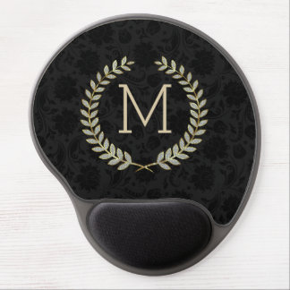 Faux Gold & Glitter Floral Wreath 2 Gel Mouse Pad