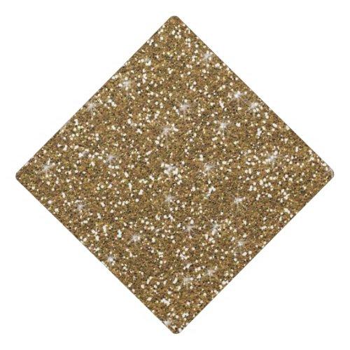 Faux Gold Glitter Graduation Cap Topper