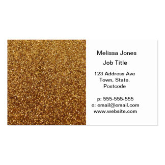 Faux Gold glitter graphic Business Card Templates