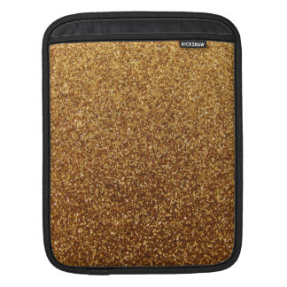 Faux Gold glitter graphic iPad Sleeves