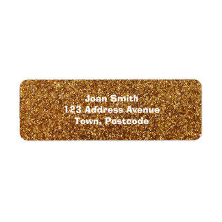 Faux Gold glitter graphic Labels