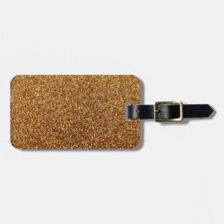 Faux Gold glitter graphic Tags For Luggage