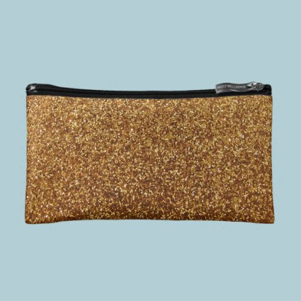 Faux Gold glitter graphic Makeup Bag