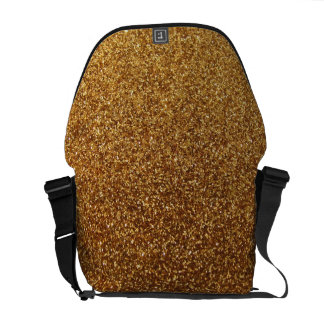 Faux Gold glitter graphic Courier Bag