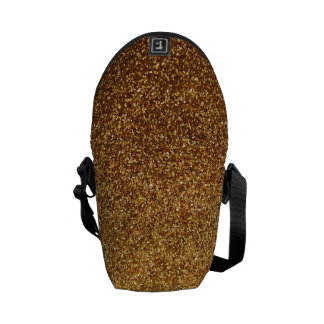 Faux Gold glitter graphic Messenger Bag