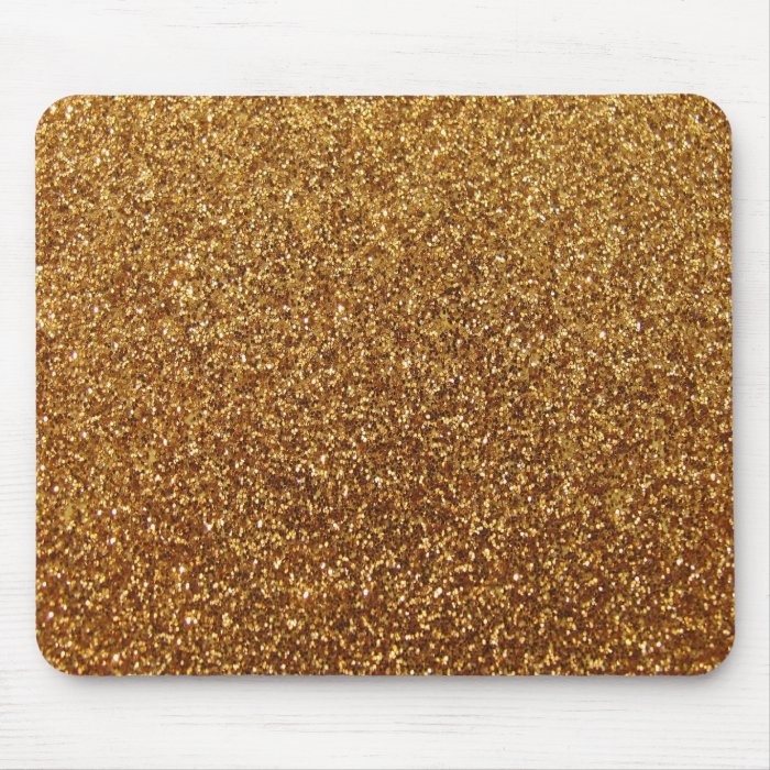 Faux Gold glitter graphic Mouse Pad