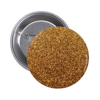 Faux Gold glitter graphic Pinback Button