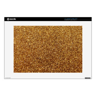 Faux Gold glitter graphic Laptop Decal