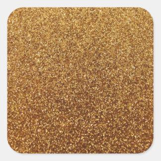 Faux Gold glitter graphic Square Sticker