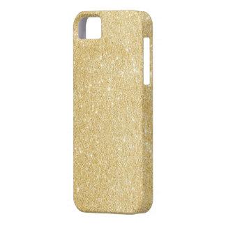 Faux Gold Glitter iPhone 5 5s Case