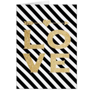 Faux Gold Glitter Love Valentine's Day Card