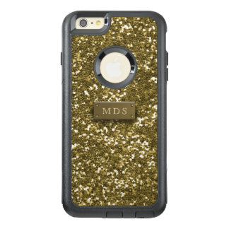 Faux Gold Glitter Otterbox 3D Gold Monogram OtterBox iPhone 6/6s Plus Case