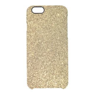 Faux Gold Glitter Photo Clear iPhone 6/6S Case