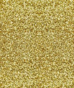 Faux Gold Glitter Shower Curtain
