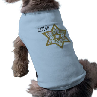 Faux Gold Glitter Star of David with Text T-Shirt