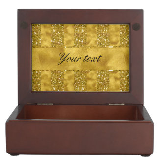 Faux Gold glitter stripes on Gold Foil Memory Box
