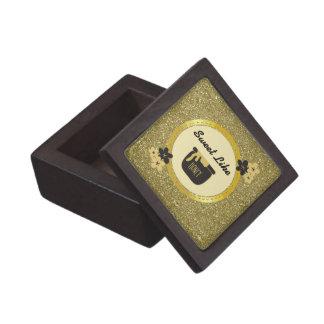 Faux Gold Glitter Sweet Like Honey Keepsake Box