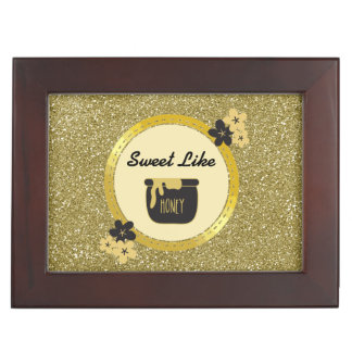 Faux Gold Glitter Sweet Like Honey Memory Box