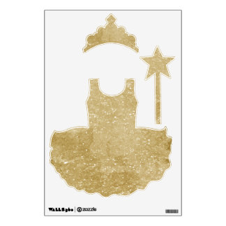 Faux Gold Glitter Wall Sticker