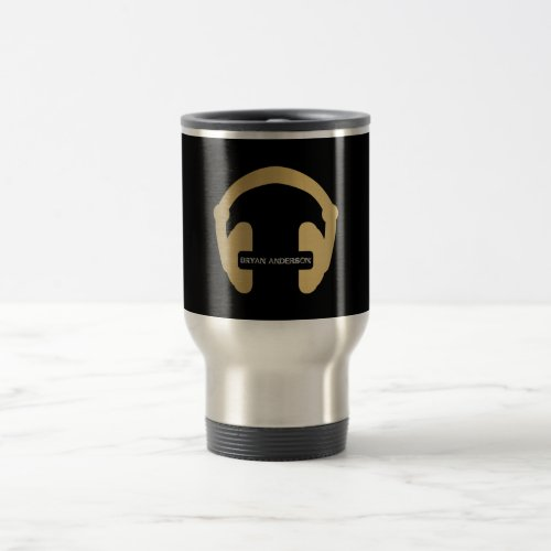 Faux Gold Headphone DJ Mug