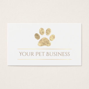 Gold paw prints business cards templates zazzle faux gold leaf pet paw print business card colourmoves