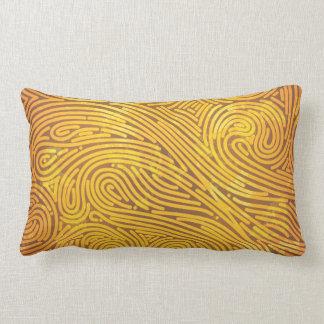 Faux Gold line pattern Lumbar Pillow