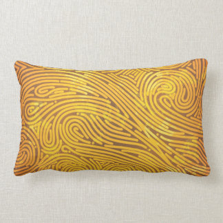 Faux Gold line pattern Throw Pillow