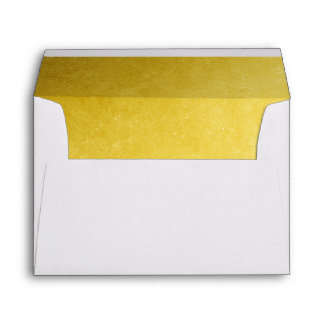 Faux Gold Lined Envelope