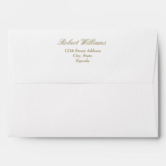 faux gold mailing envelopes return address zazzle com